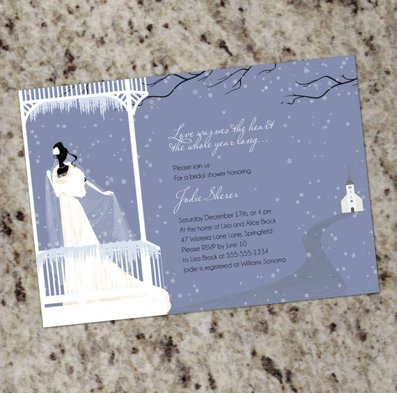 Warms the heart winter themed bridal shower invitations etsy filmwisefo