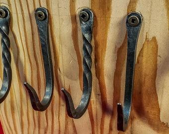 Kitchen hooks (3 hooks), Blacksmithed and Hand Forged