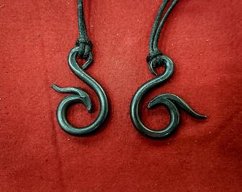 Nidhogg Pendant- Blacksmith, hand forged