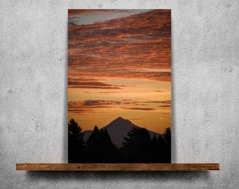 Mountain at Sunrise — Fine Art Print, Canvas/Metal/Acrylic/Framed