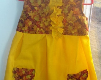 12 month Yellow Sundress for baby or toddler