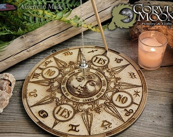 Pendulum board WITH PENDULUM esoteric witchcraft divination fortune telling altar decoration dowsing mediumship