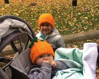 Kids pumpkin hat  2b4552c1aa8d