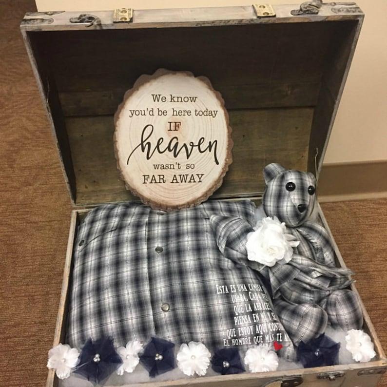 Keepsake Pillow and Small Teddy Bear Combo Set/memory image 0