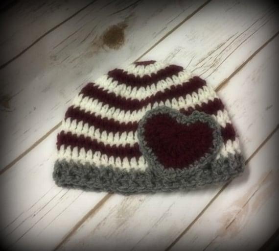 Häkeln Sie Hut Neugeborene Hut Baby Mütze Hut mit Herz | Etsy