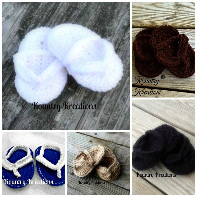 b83be0d3c Crocheted baby flip flops  crochet baby sandals  baby shoes