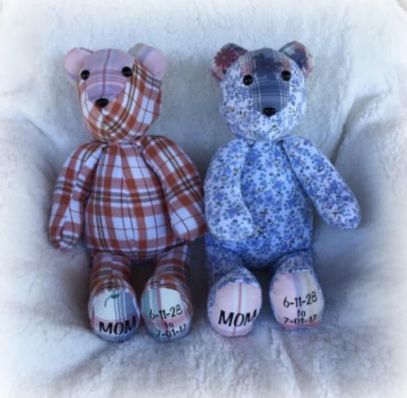 Teddy Bear/memory bear/handmade bear/memory of loved image 0
