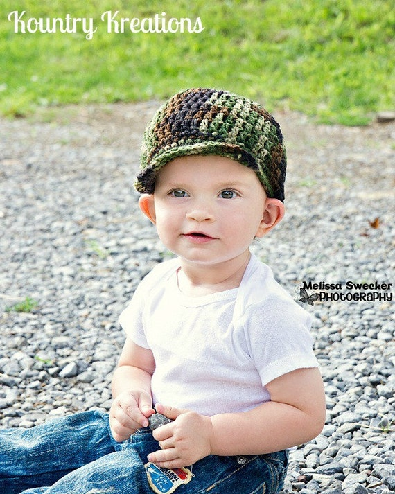 Crochet Camo Hat  Boy Camo Hat My LITTLE HUNTERS CAMO Baby Hat  b71178763861