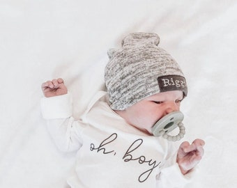 Tacobear 3PCs Beanie Hat Newborn Hat for Baby Boy Baby Girl Hat Baby Warm Hat with Bear Ears Newborn Hospital Hats for Baby Boys and Girls Toddler Winter Hat for Baby 0-6 Months
