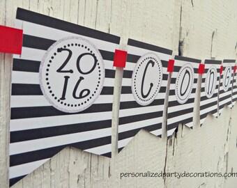 Graduation Banner, Graduation Party Decorations, Congrats Banner,You Can Choose The Colors