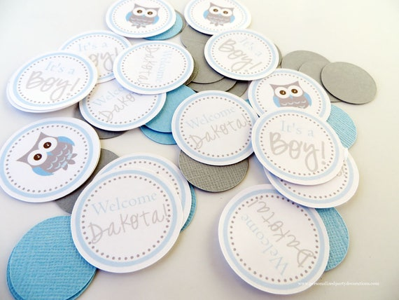 Owl Baby Shower Decorations Owl Table Confetti Owl Baby Etsy