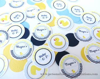 Rubber Ducky Baby Shower Decorations, Rubber Duck Table Confetti, Duck Baby Shower Decorations, Customized