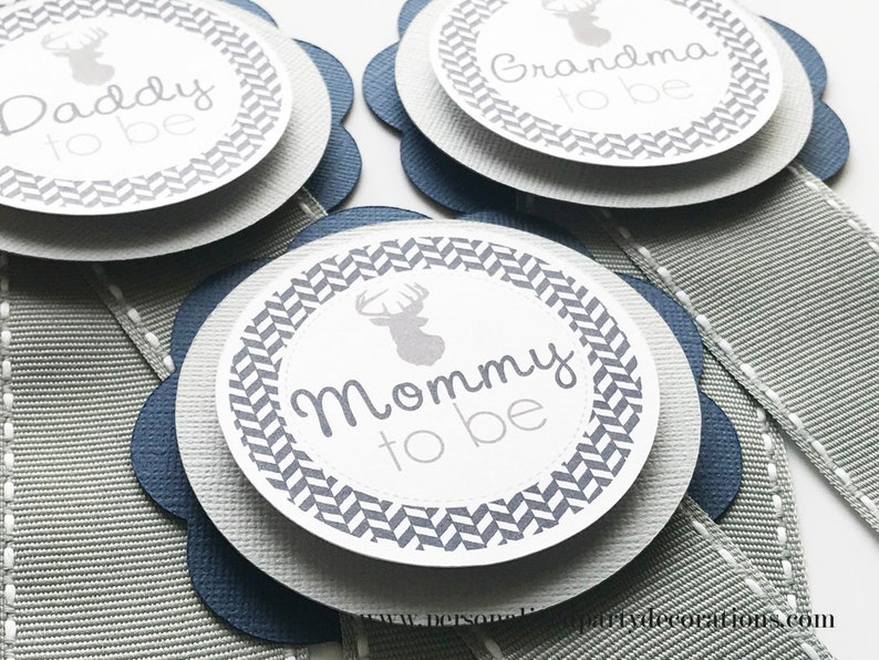 Navy and Gray Deer Baby Shower Decoration Oh Deer Baby Shower image 0