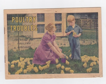 1937 farmers poultry trouble booklet from Nelson drug store Benton. Kentucky