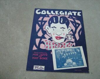 1925  vintage sheet music (  Collegiate  )