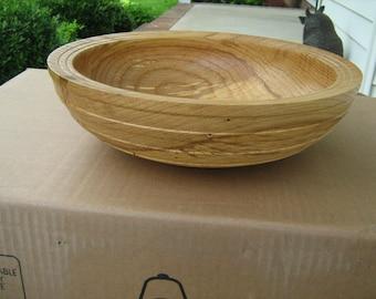 hand turned oak wood bowl by Doc Green of north Carolina