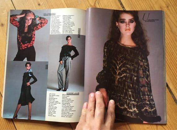 November 1980 Vogue Gia Carangi Kim Alexis Brooke Shields   Etsy 791b1f3ca8