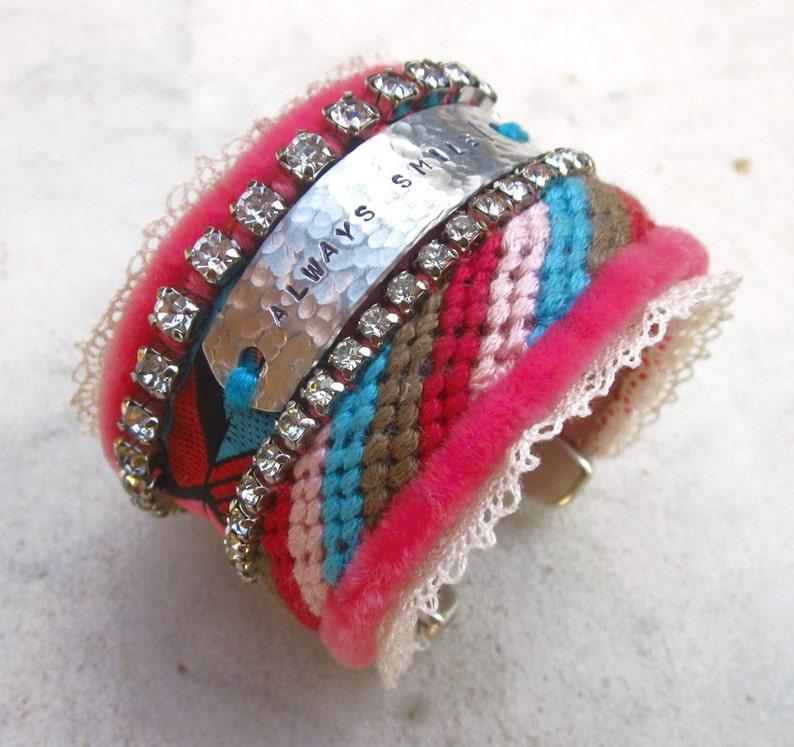 d1be9c6c16e Friendship cuff bracelet/ inspirational hippie cuff/ | Etsy