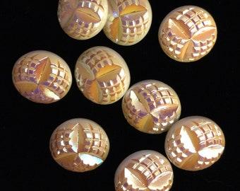 9 IRIDESCENT GLASS BUTTONS
