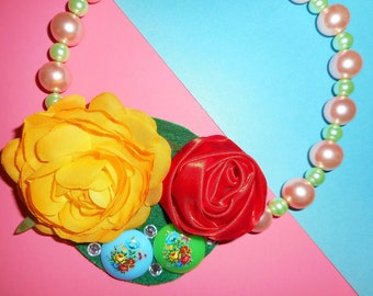 Rose Riot Corsage Necklace