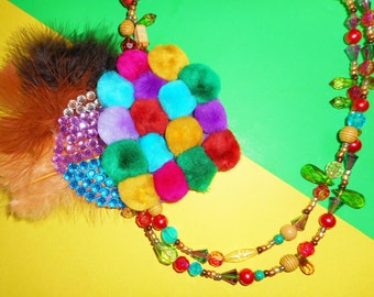 Bright Bohemian Corsage Necklace