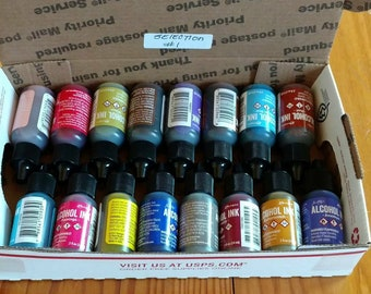 Alcohol Ink 1/2 ounce - 3.50 each - Ranger- 16 bottles/colors - collection #1