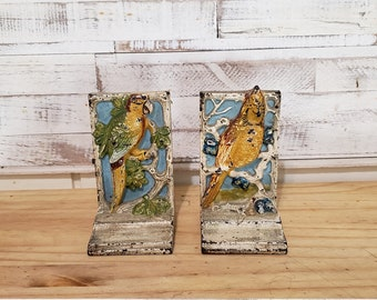 Wooden Decorative Parrot Design Painted Bookends Wooden Bookends