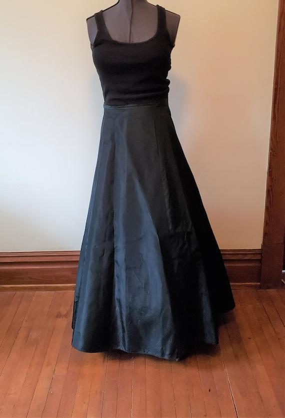 Reserved Vintage black skirt formal gown dress Vi… - image 2