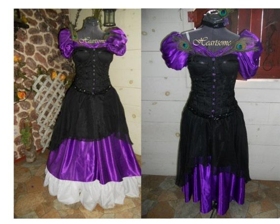 Victorian Saloon dress Masquerade gown Mardi Gras