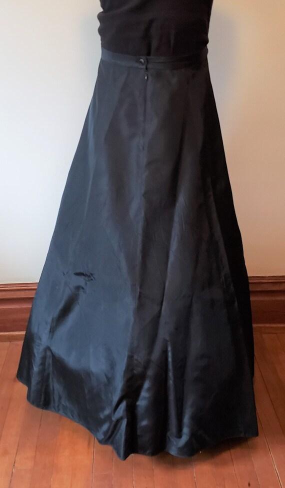 Reserved Vintage black skirt formal gown dress Vi… - image 5