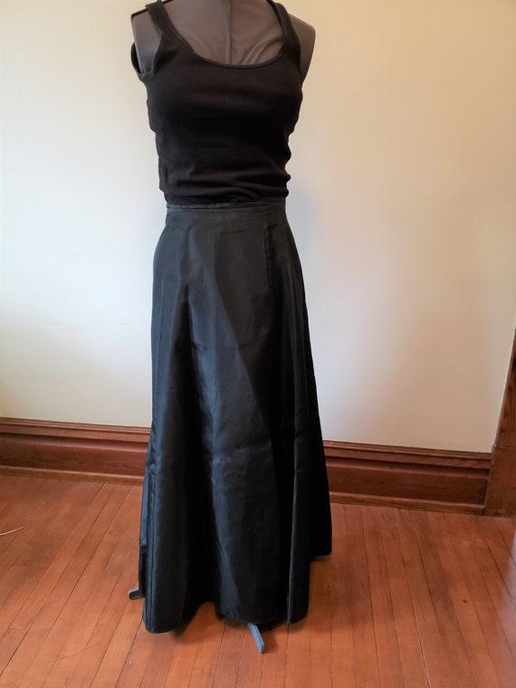 Reserved Vintage black skirt formal gown dress Vi… - image 3