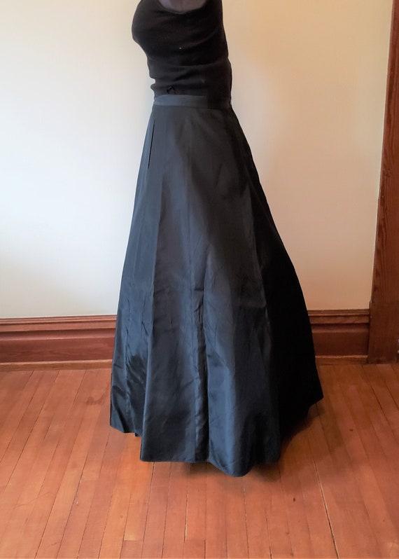 Reserved Vintage black skirt formal gown dress Vi… - image 1