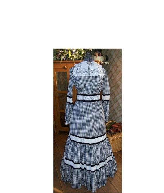 Vintage Neiman Marcus designer dress Victorian Pra