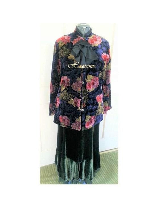 Victorian Edwardian costume outfit velvet duster s