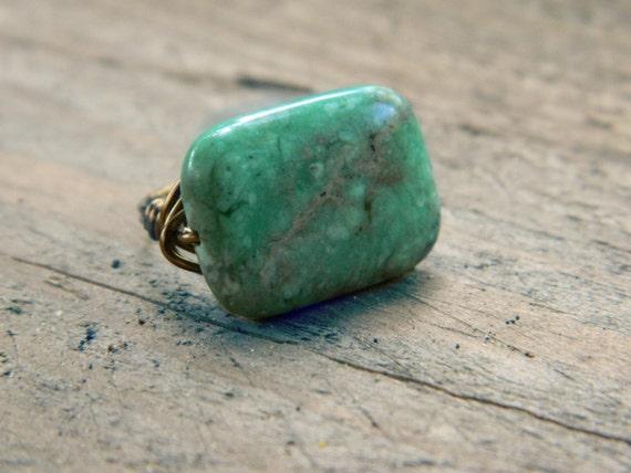 Grüne Jaspis Ring Schmuckringe Grüner Ring grünen Draht | Etsy
