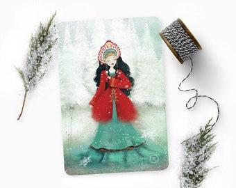 Vasilisa - Illustrated Postcard