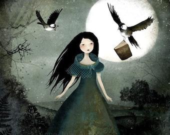 Little Messengers - open edition print - Whimsical Art