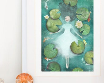 Lotus - Deluxe Edition Print - Whimsical Art