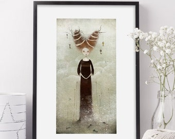 The Guardian of Keys 41/50 - Deluxe Edition Print - Whimsical Art