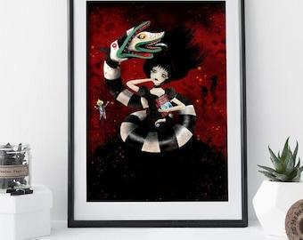 Beetlejuice - Lydia Deetz - 12/100 - Deluxe Edition Print - Whimsical Art
