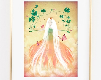 Clover 9/100 - Deluxe Edition Print - Whimsical Art