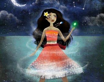 Moana - Disney Princess  - Open Edition Print - Whimsical Art