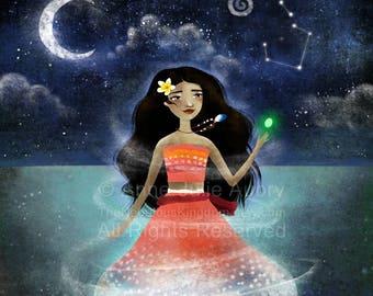 Moana - Disney Princess  - Deluxe Edition Print - Whimsical Art