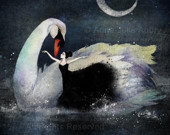 Swan Lake - Deluxe Edition Print - Whimsical Art