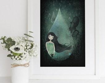 Ocean of Tears - Deluxe Edition Print - Whimsical Art