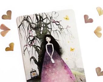 The Wishing Tree - Illustrated Postcard