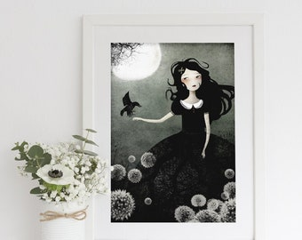 My Only Friend 69/100 - Deluxe Edition Print - Whimsical Art