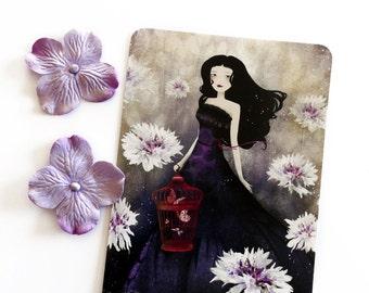 Purple Meadow - Illustrated Postcard