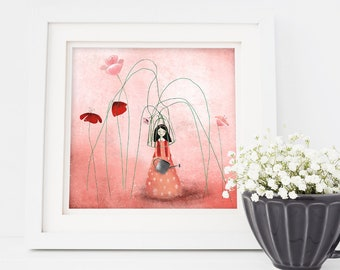 A Life with Flowers (second edition) 4/50 - Deluxe Edition Print - Whimsical Art