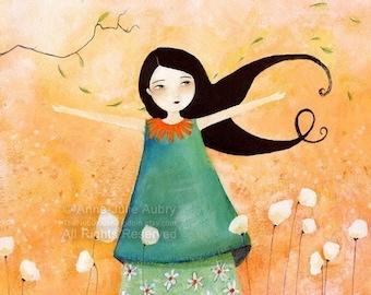 Princesse Mandarine - open edition print - Whimsical Art
